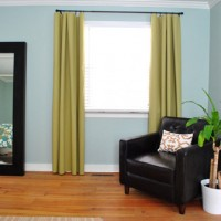 Making No-Sew Bedroom Curtains With Fabric And Hem Tape