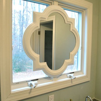 Painting Our Quatrefoil Mirror Over The Sink