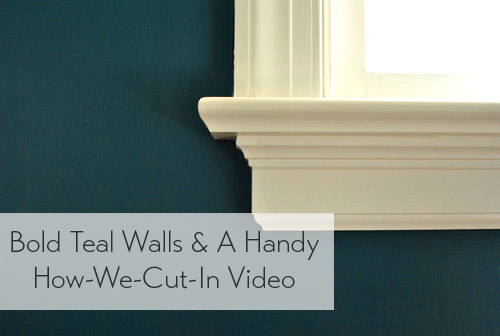 Bold Teal Walls How We Cut In Video