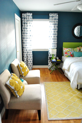 Our $297 Guest Room Makeover (& A Luggage Tray Side Table)
