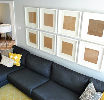 How To Hang A Grid Of Frames Over The Couch (And What Not To Do)