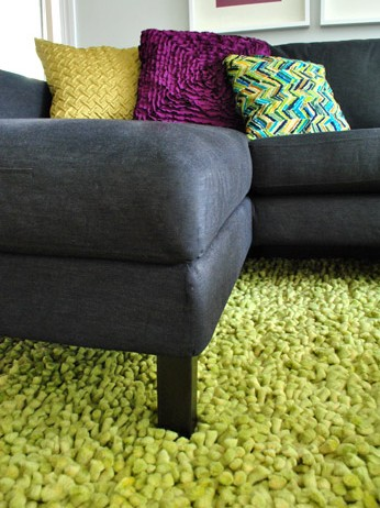 Spray Painting The Legs Of An Ikea Couch For A More Finished Look