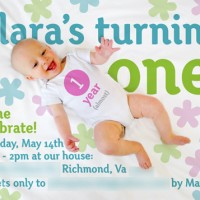 How We Made Clara's First Birthday Invitations