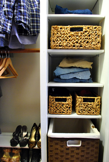 Cleaning & Organizing Our Closet