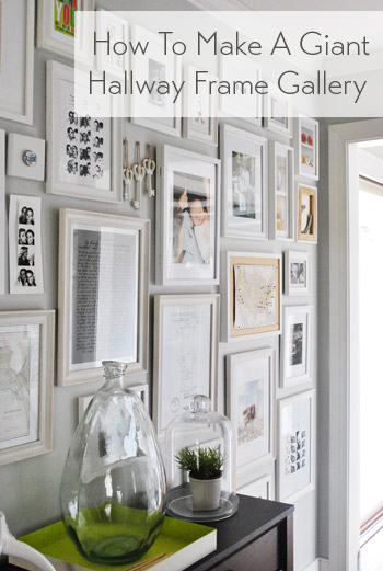 how to make a giant hallway frame gallery young house love