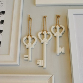 Painting & Hanging Big Metal Keys On Our Gallery Wall