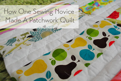 How One Sewing Novice Made A Modern Patchwork Quilt | Young House Love : how to make patchwork quilt - Adamdwight.com