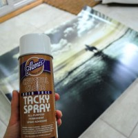 Using Acrylic Medium To Glue A Large Print To A Canvas