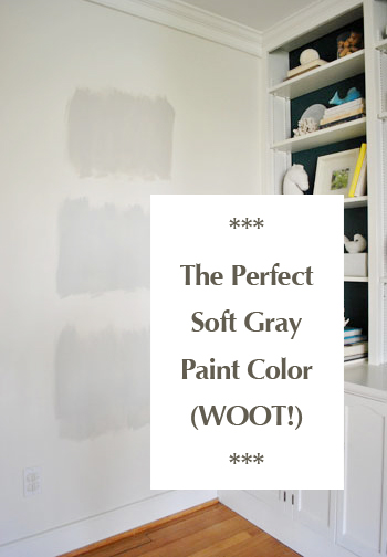The Perfect Soft Gray Paint Color