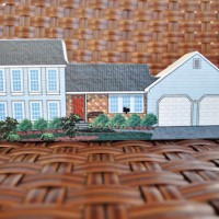 Gift Idea: A Custom Wooden House Replica For Mom & Dad