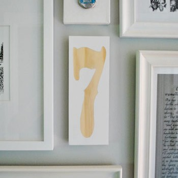 How To Make A Wood Plaque With A Number Or Letter On It