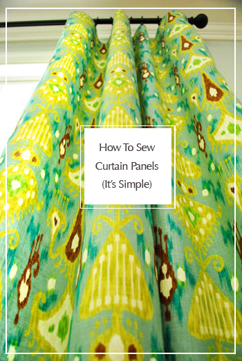 How To Sew Curtain Panels It S Simple Young House Love