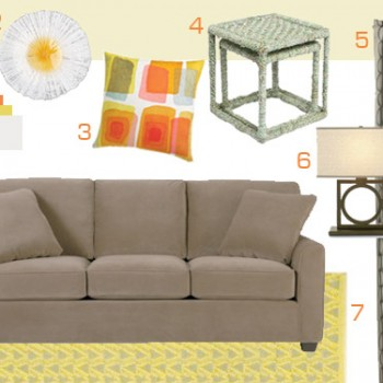Mood Board Making: A Neutral Living Room With Citrus Accents
