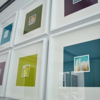 "Framing Photography Note Cards With Big Colorful Paper ""Mats"""