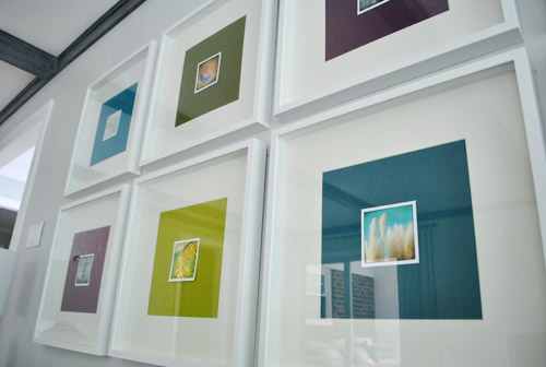 """Framing Photography Note Cards With Big Colorful Paper """"Mats"""""""