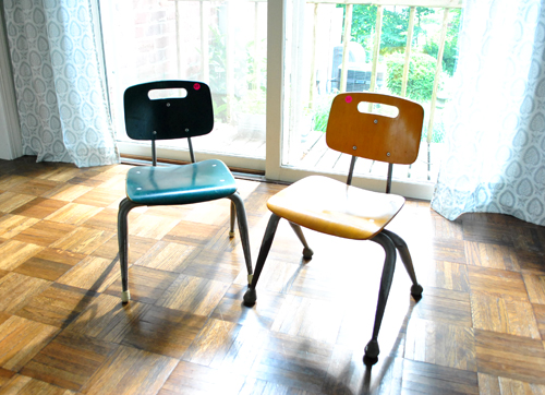 Yard Sale Score: Old Children's Chairs