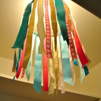 Easy DIY Idea: Making A Ribbon Chandelier