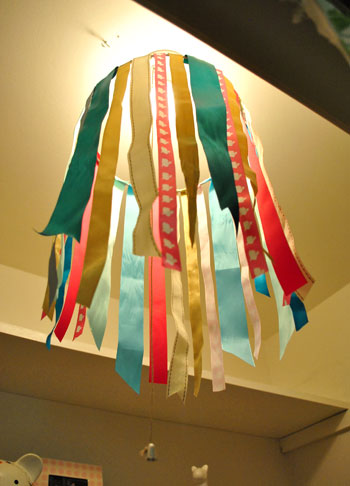 Easy DIY Idea: Making A Ribbon Chandelier