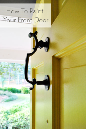 How To Paint Front Door how to paint your front door | young house love