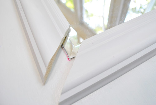 Framing Out A Mirror That's Mounted On A Door