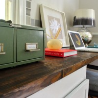 How To Make A Planked Wood Desktop Counter