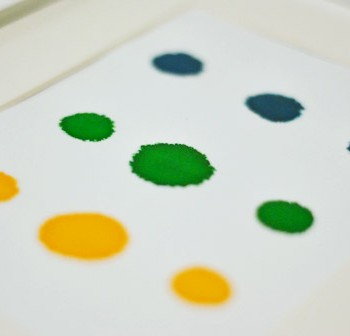 Easy Handmade Art: Let's Frame Some Food Coloring