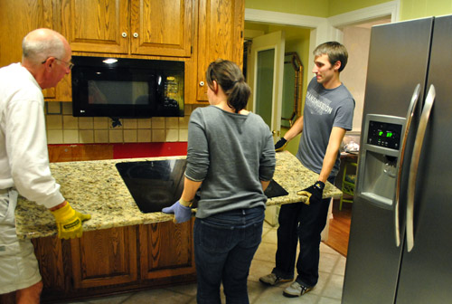 Moving Cabinets Around & Removing Granite Counters