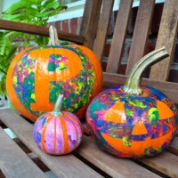Four No-Cut Pumpkin Decorating Ideas For Kids
