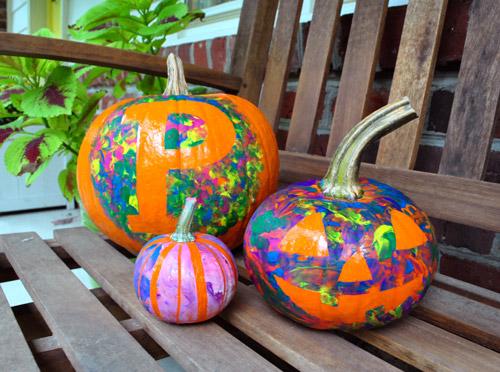 Four No-Cut Pumpkin Decorating Ideas For Kids