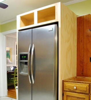 How To Build In Your Fridge With A Cabinet On Top