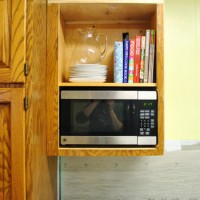 How To Hide A Microwave (Building It Into A Vented Cabinet)