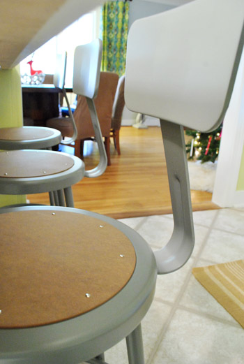 Buying Metal Stools From An Industrial School Supply Shop