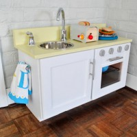 How To Make A Homemade Play Kitchen (From A Cabinet)
