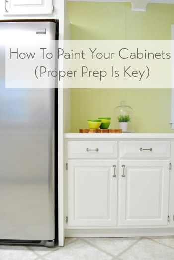 Etonnant How To Paint Kitchen Cabinets Proper Prep