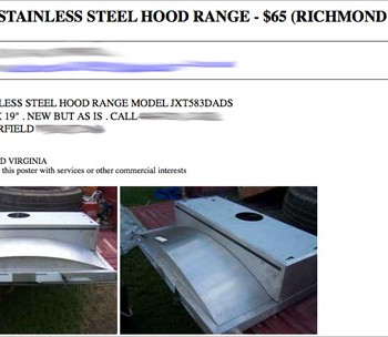 Scoring A Jenn-Air Hood Range On Sale From Craigslist