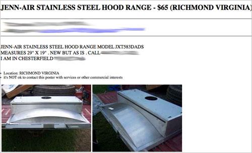 Scoring A Jenn-Air Hood Range On Sale From Craigslist