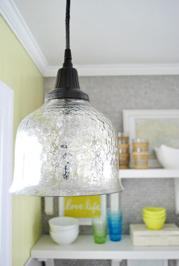 How To Spray Paint A Pendant Light's Cord & Canopy