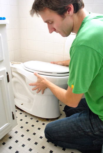 Fixing A Toilet That Rocks, Replacing A Wax Ring, & Adding Dual Flush