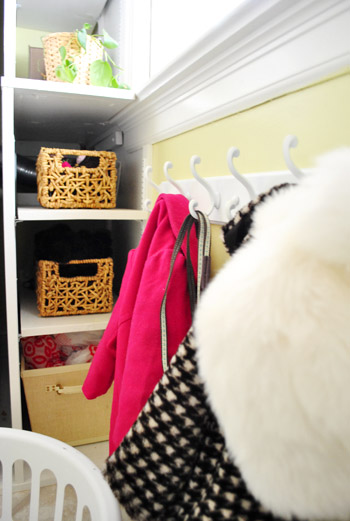 Playing Hooky: A Little Laundry/Mudroom Organization