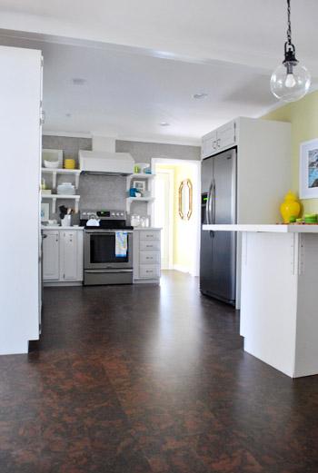 Completing Our Kitchen's Cork Floor Installation