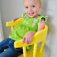 Updating An Old Wooden Highchair