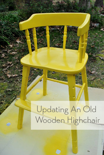 Updating An Old Wooden Highchair Young House Love