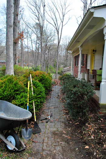 Clearing Out And Cleaning Up The Path To Our Front Door