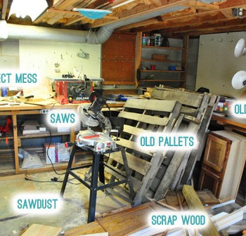 My Shame: Revealing Our Messy Basement Workshop