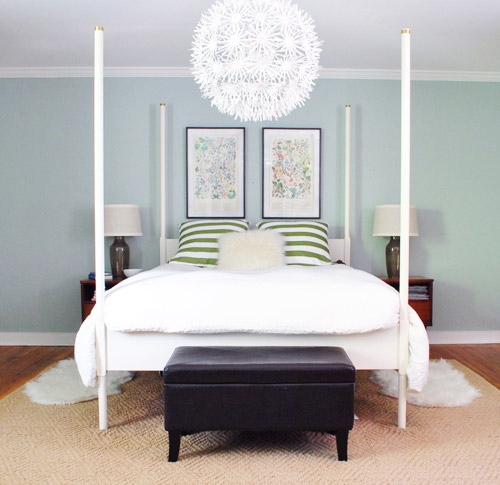 Spacing Out And Hanging Two Pictures Over The Bed