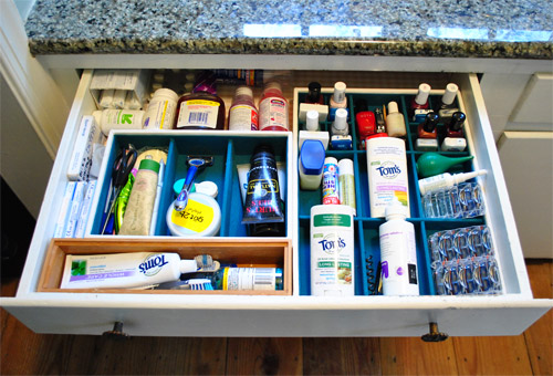 Some Bathroom Drawer Organization To The Rescue