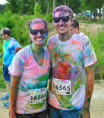 The Color Run And Some Powdered Art For The Hall