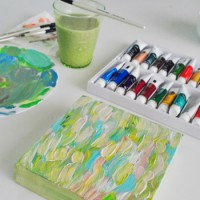 Summer Pinterest Challenge: Making Acrylic Art