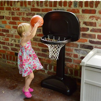 Spray Painting A Little Plastic Basketball Hoop