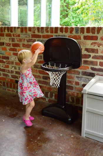 Spray Painting A Little Plastic Basketball Hoop
